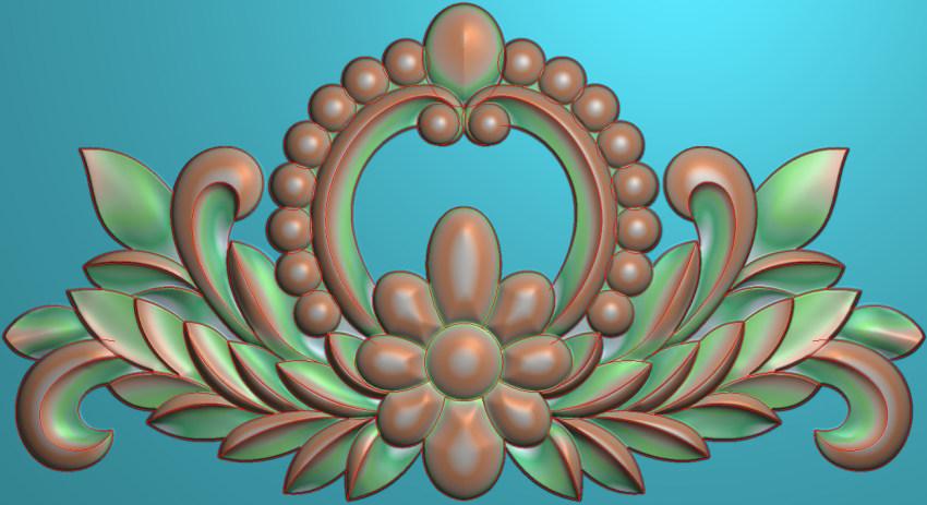 欧式三角花图JDP格式横图浮雕外墙装饰花洋花系列柜门花SH0125插图