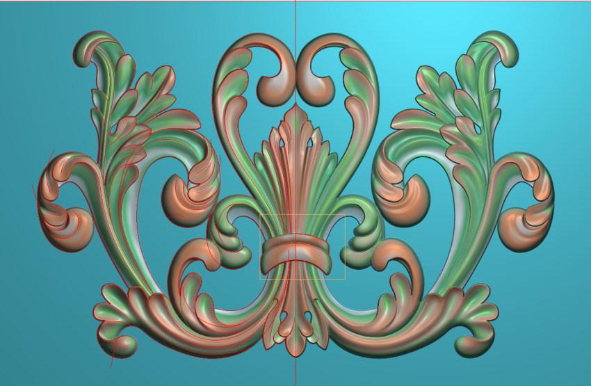 欧式三角花图JDP格式横图浮雕外墙装饰花洋花系列柜门花SH077插图