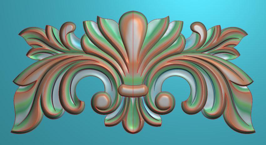欧式三角花图JDP格式横图浮雕外墙装饰花洋花系列柜门花SH0213插图