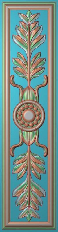 欧式竖图JDP格式雕刻雕花护墙板系列HQ0087插图