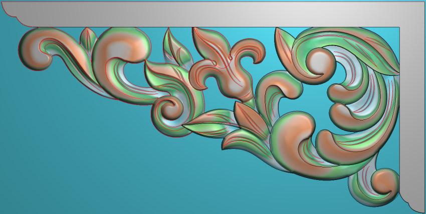 欧式横图JDP格式植物角花系列JH0141插图
