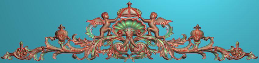 欧式三角花图JDP格式横图浮雕外墙装饰花洋花系列柜门花SH0154插图