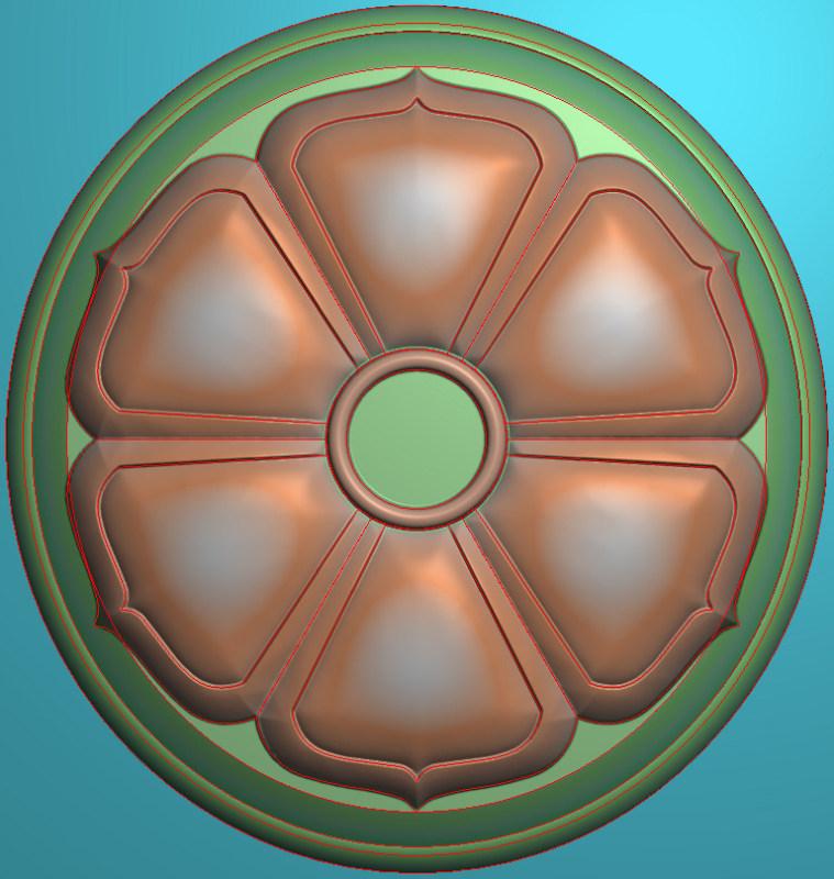 欧式圆花图JDP格式贴花门上花洋花系列罗马柱头贴片YH0061插图