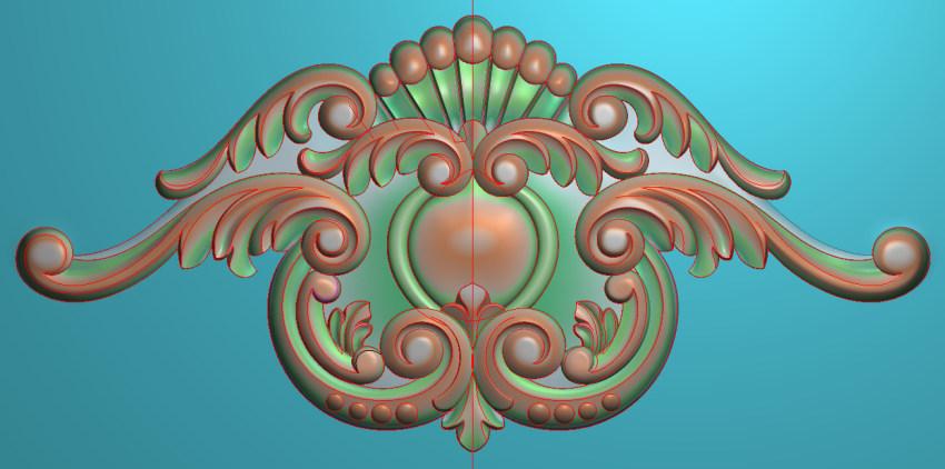 欧式三角花图JDP格式横图浮雕外墙装饰花洋花系列柜门花SH0233插图