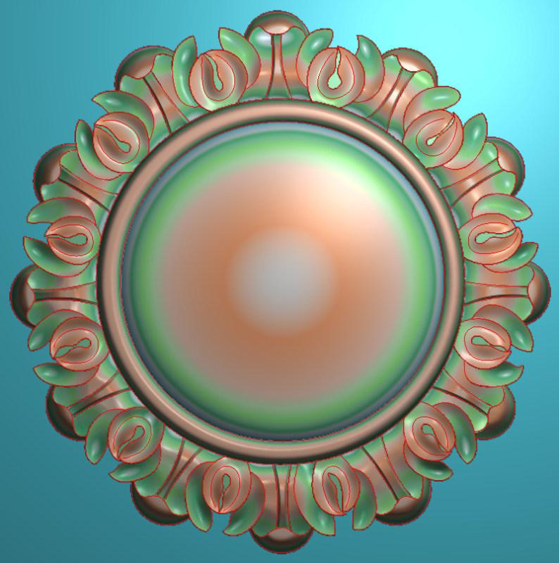 欧式圆花图JDP格式贴花门上花洋花系列罗马柱头贴片YH00117插图