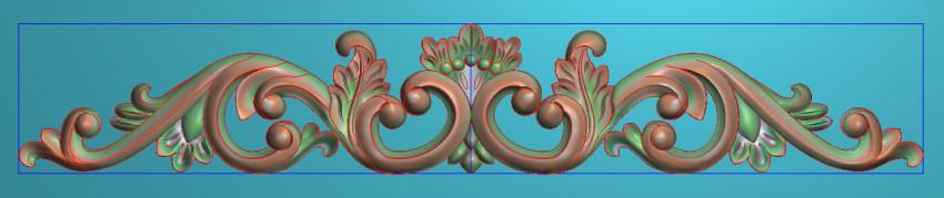 欧式三角花图JDP格式横图浮雕外墙装饰花洋花系列柜门花SH0145插图