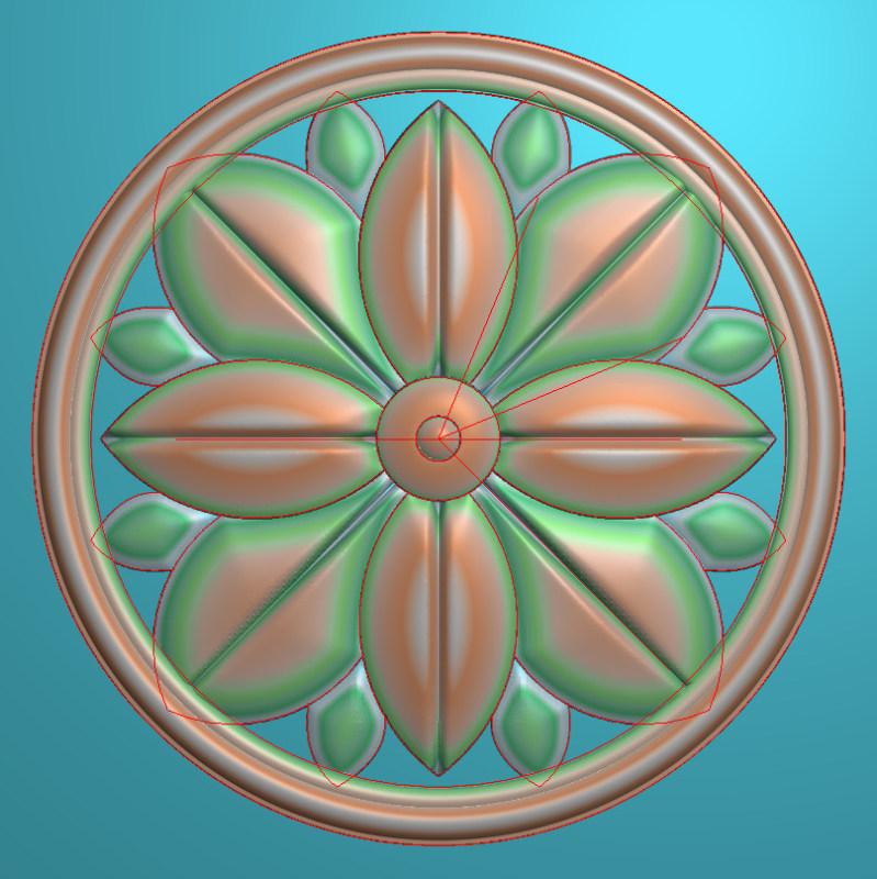 欧式圆花图JDP格式贴花门上花洋花系列罗马柱头贴片YH0031插图