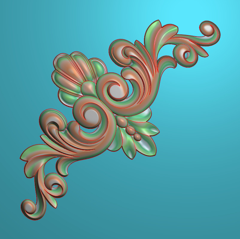 欧式正方图JDP格式植物角花系列JH079插图