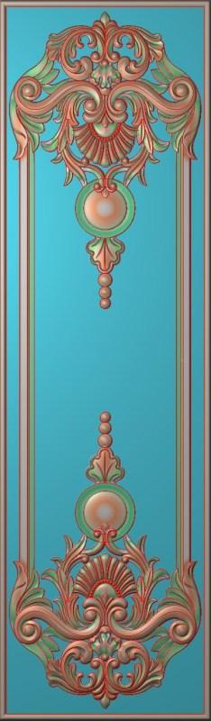 欧式竖图JDP格式雕刻雕花护墙板系列HQ0057插图