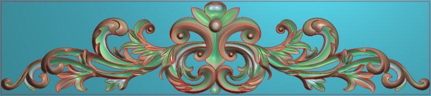 欧式三角花图JDP格式横图浮雕外墙装饰花洋花系列柜门花SH0108插图