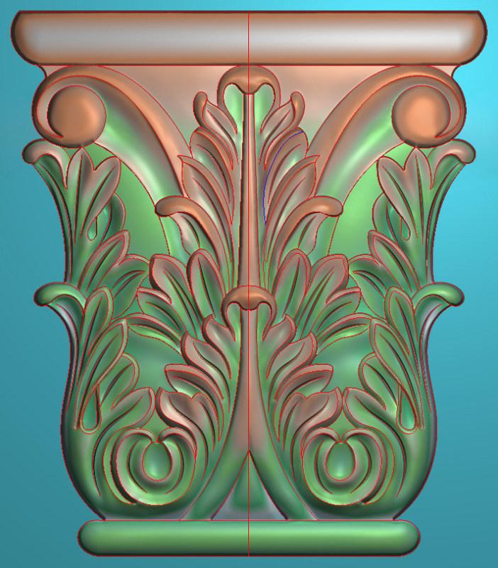 欧式竖图JDP格式罗马柱头系列ZB015插图