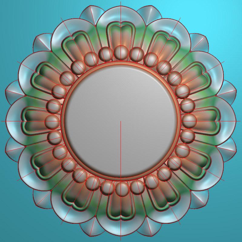 欧式圆花图JDP格式贴花门上花洋花系列罗马柱头贴片YH007插图