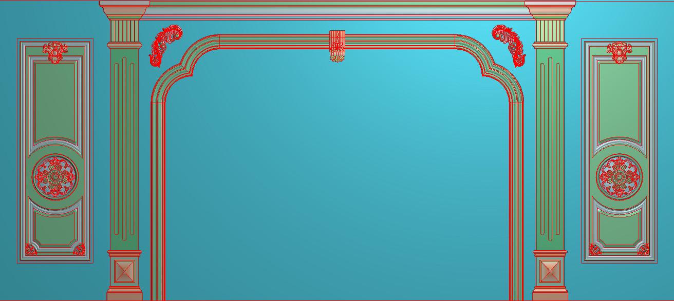 欧式横图JDP格式背景墙系列BJ0024插图
