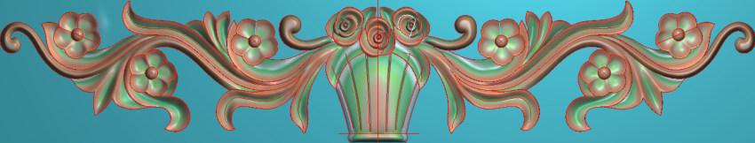 欧式三角花图JDP格式横图浮雕外墙装饰花洋花系列柜门花SH0134插图