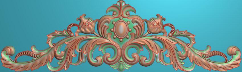 欧式三角花图JDP格式横图浮雕外墙装饰花洋花系列柜门花SH032插图