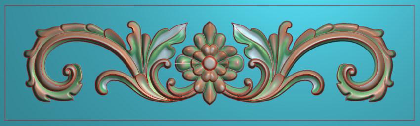 欧式三角花图JDP格式横图浮雕外墙装饰花洋花系列柜门花SH0189插图