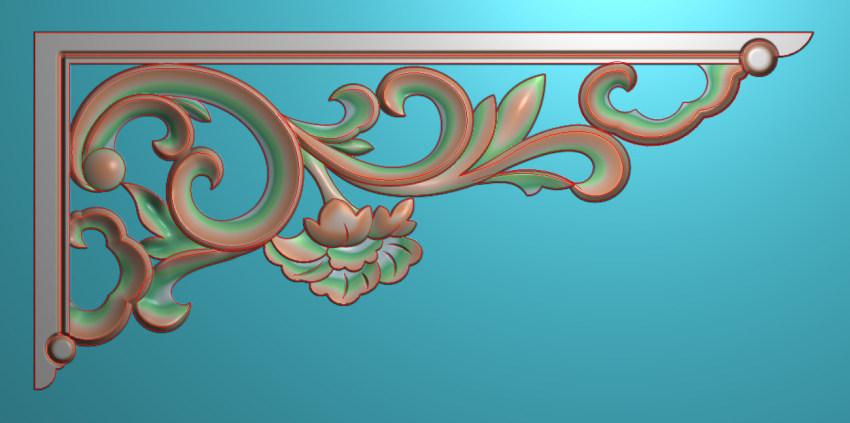 欧式横图JDP格式植物角花系列JH0194插图