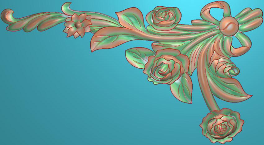 欧式横图JDP格式植物角花系列JH0291插图