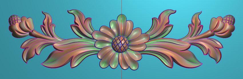 欧式三角花图JDP格式横图浮雕外墙装饰花洋花系列柜门花SH0243插图