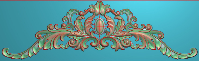 欧式三角花图JDP格式横图浮雕外墙装饰花洋花系列柜门花SH0197插图
