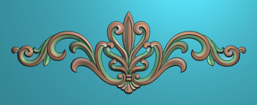欧式三角花图JDP格式横图浮雕外墙装饰花洋花系列柜门花SH061插图