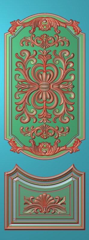 欧式竖图JDP格式雕刻雕花护墙板系列HQ0037插图
