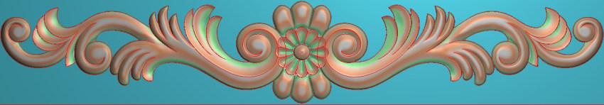 欧式三角花图JDP格式横图浮雕外墙装饰花洋花系列柜门花SH0141插图
