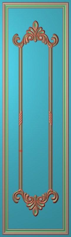 欧式竖图JDP格式雕刻雕花护墙板系列HQ0067插图