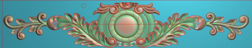 欧式三角花图JDP格式横图浮雕外墙装饰花洋花系列柜门花SH0153插图
