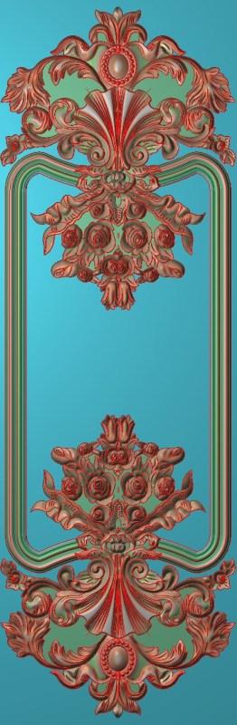 欧式竖图JDP格式雕刻雕花护墙板系列HQ00182插图