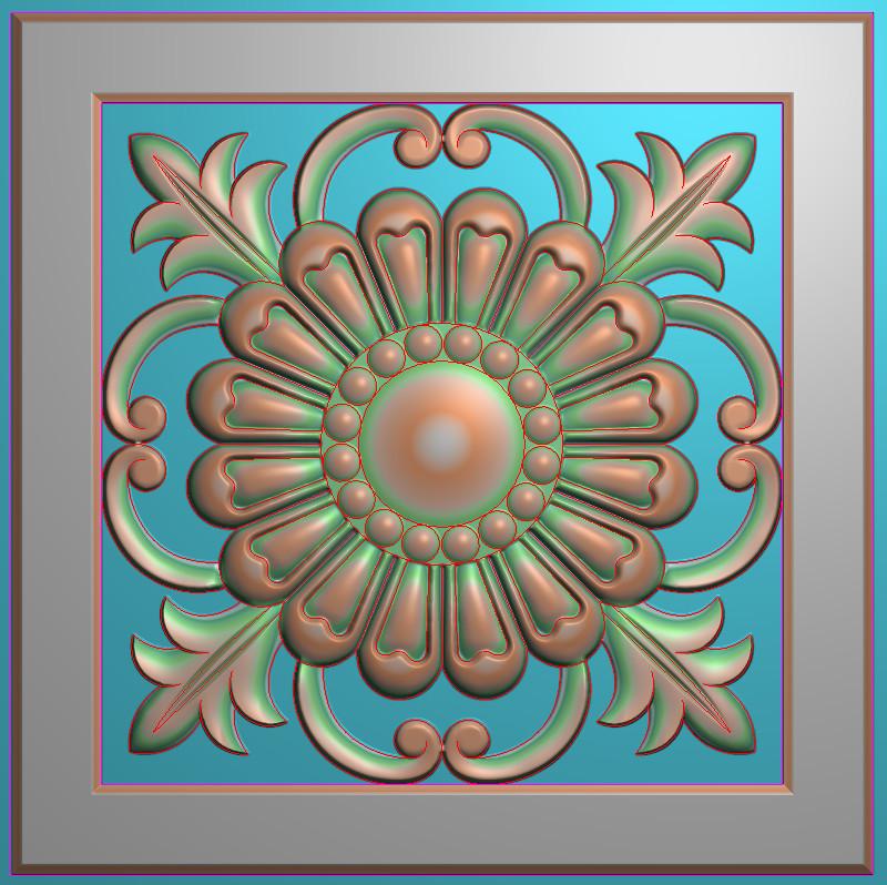 欧式正方图JDP格式贴花方块花洋花系列罗马柱头贴片FH047插图