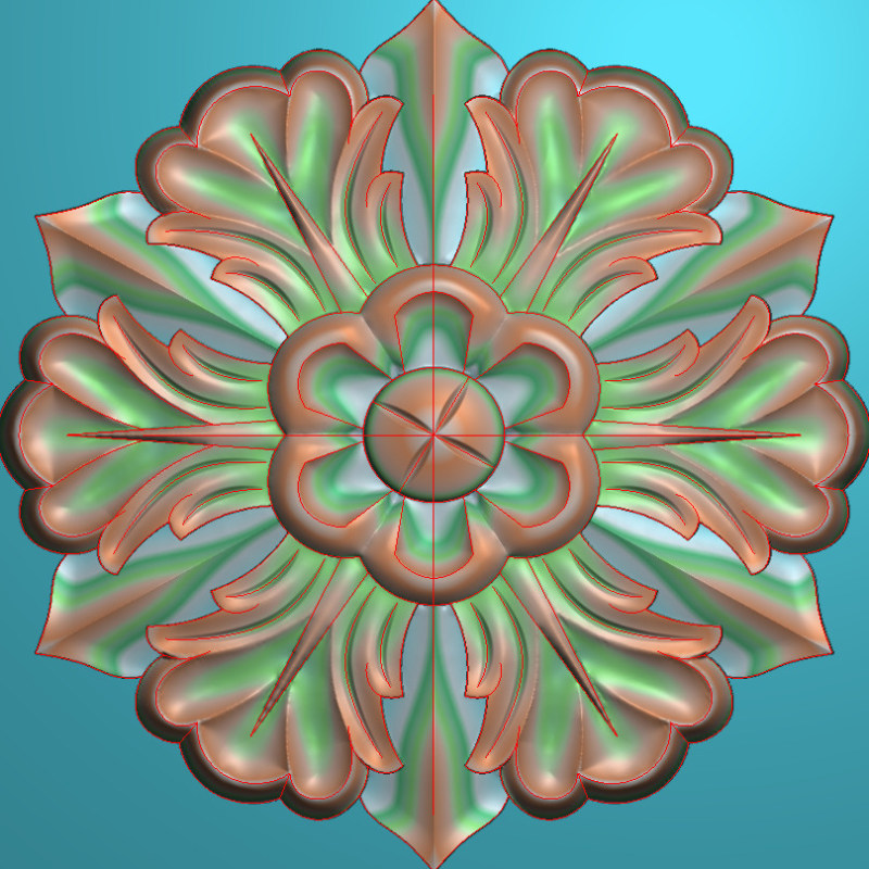 欧式圆花图JDP格式贴花门上花洋花系列罗马柱头贴片YH003插图