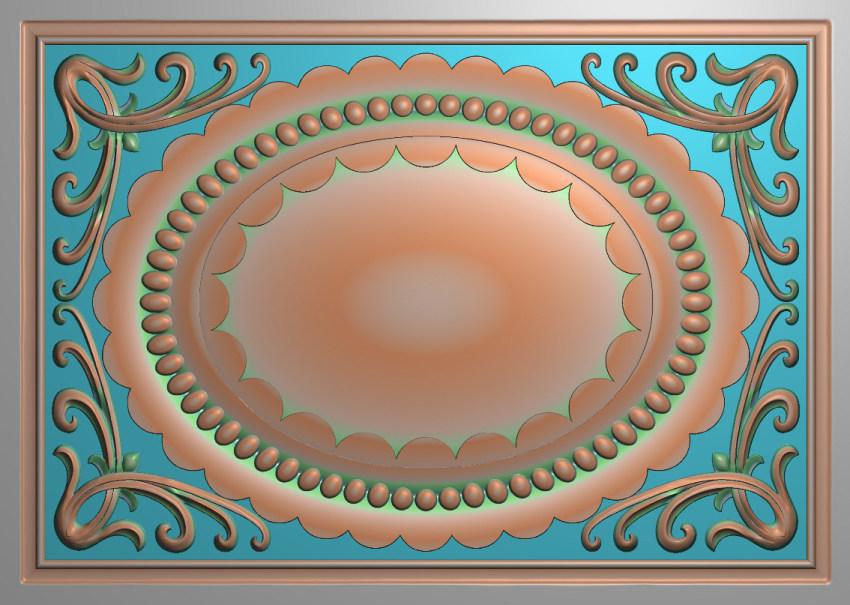 欧式横图JDP格式贴花方块花洋花系列罗马柱头贴片FH053插图