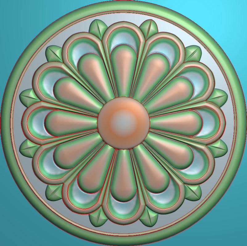 欧式圆花图JDP格式贴花门上花洋花系列罗马柱头贴片YH0056插图
