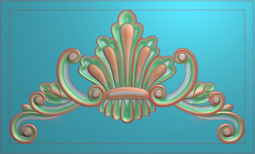 欧式三角花图JDP格式横图浮雕外墙装饰花洋花系列柜门花SH0185插图