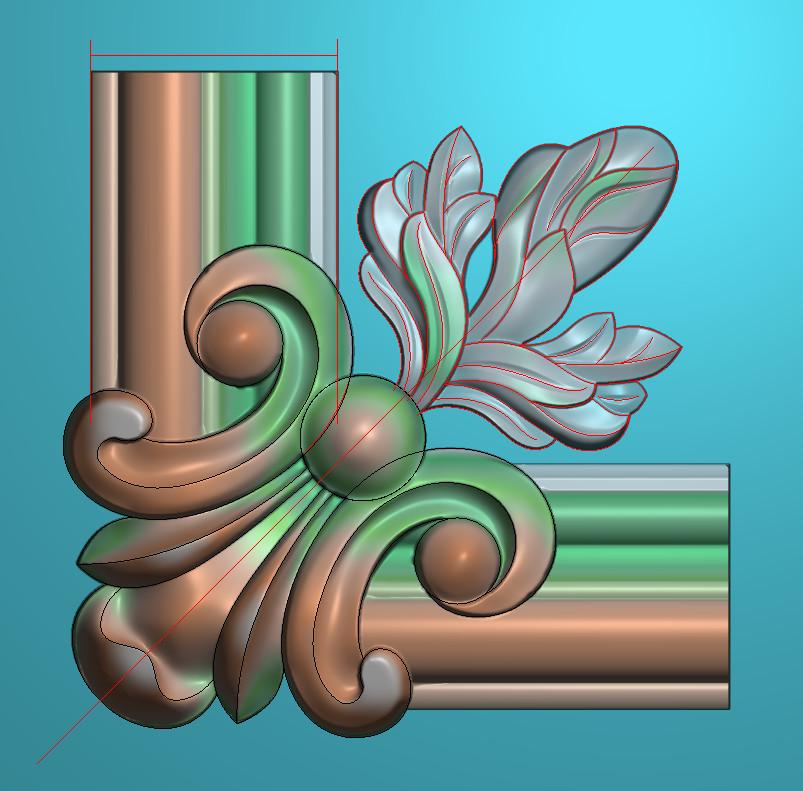欧式正方图JDP格式植物角花系列JH0148插图