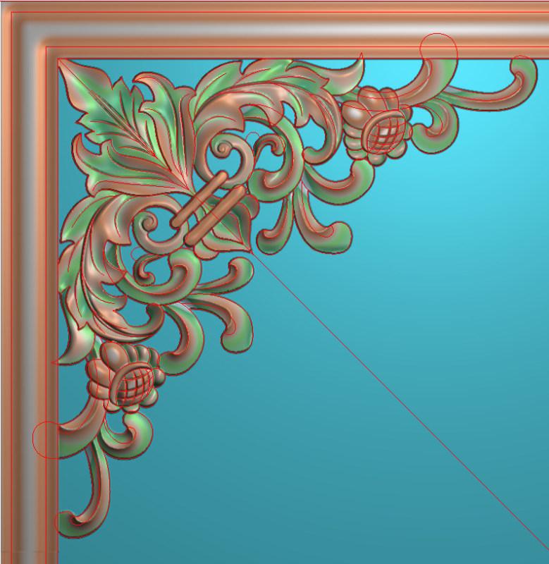 欧式正方图JDP格式蝙蝠植物角花系列JH013插图