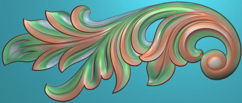 欧式横图JDP格式植物角花系列JH077插图