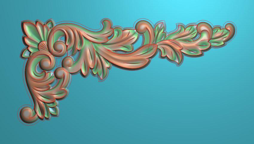 欧式横图JDP格式植物角花系列JH0205插图