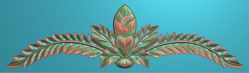 欧式三角花图JDP格式横图浮雕外墙装饰花洋花系列柜门花SH0132插图