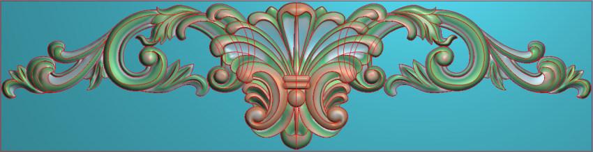 欧式三角花图JDP格式横图浮雕外墙装饰花洋花系列柜门花SH0254插图