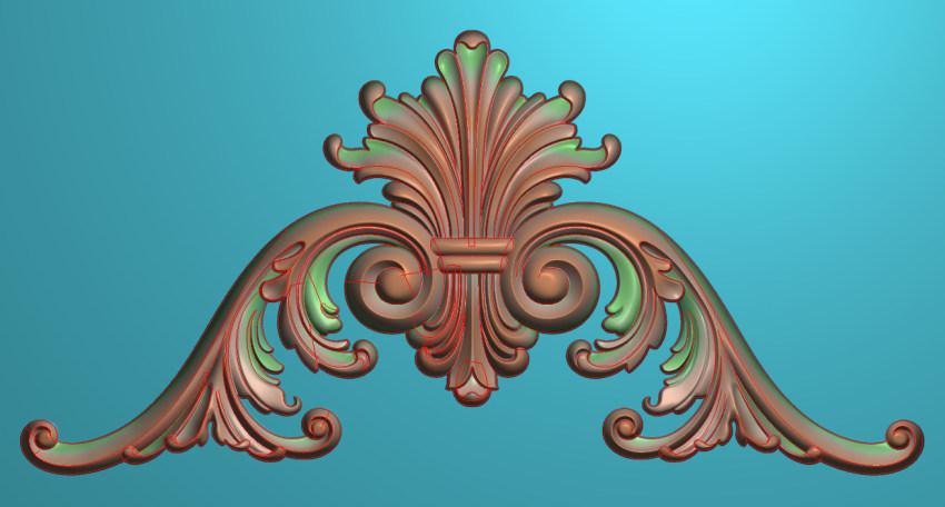欧式三角花图JDP格式横图浮雕外墙装饰花洋花系列柜门花SH0178插图