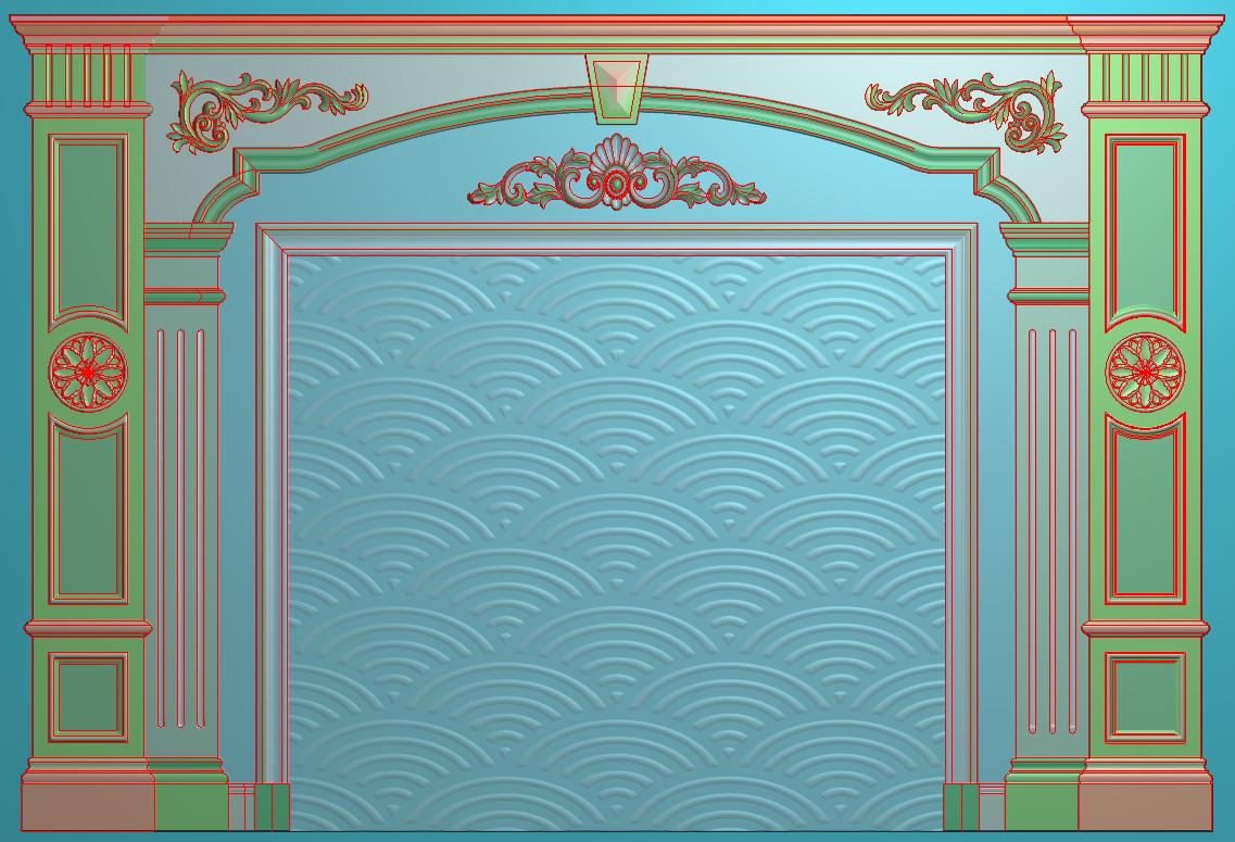 欧式横图JDP格式背景墙系列BJ0038插图