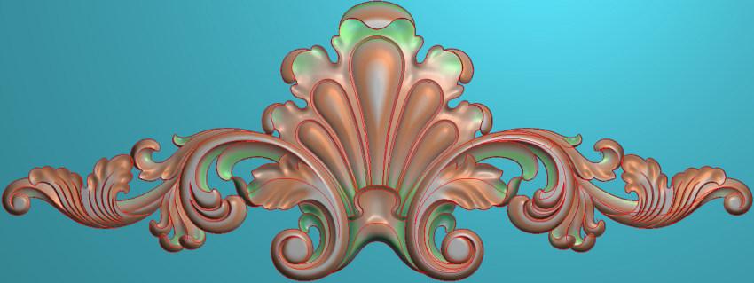 欧式三角花图JDP格式横图浮雕外墙装饰花洋花系列柜门花SH025插图