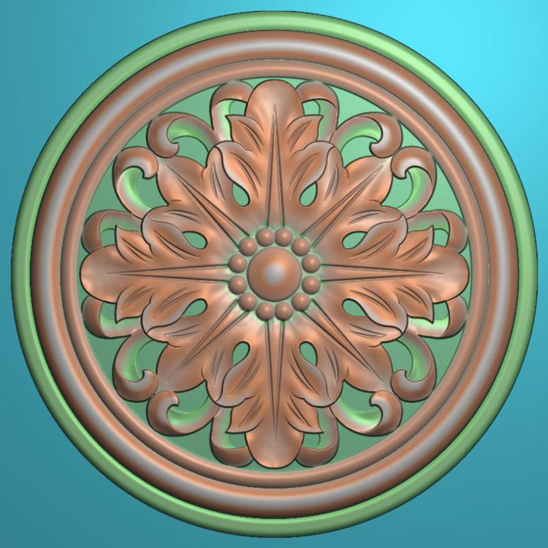 欧式圆花图JDP格式贴花门上花洋花系列罗马柱头贴片YH0064插图