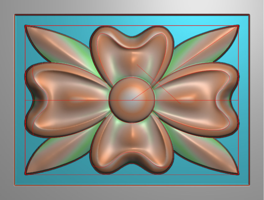 欧式横图JDP格式贴花方块花洋花系列罗马柱头贴片FH110插图