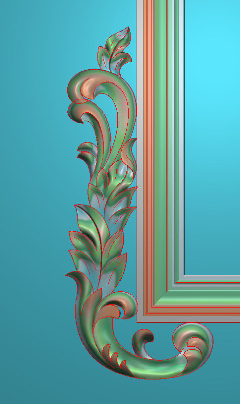 欧式竖图JDP格式植物角花系列JH0166插图