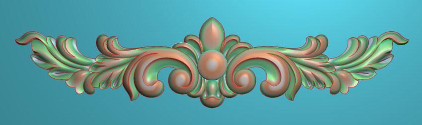 欧式三角花图JDP格式横图浮雕外墙装饰花洋花系列柜门花SH051插图