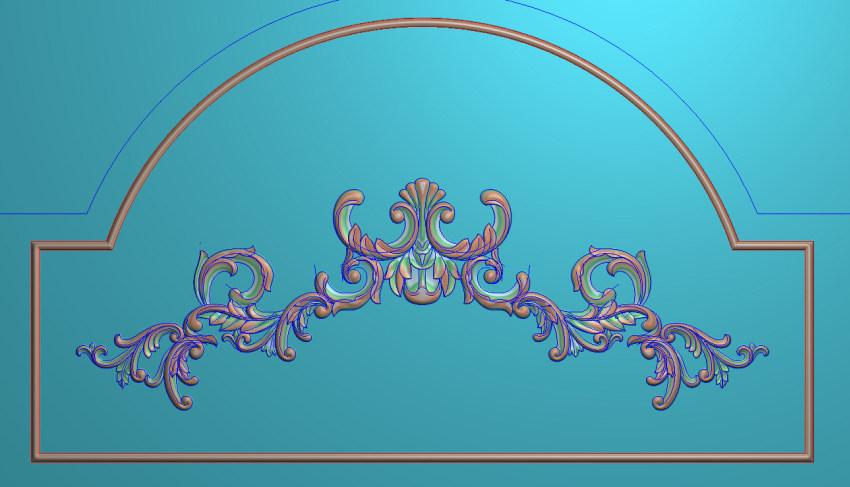 欧式三角花图JDP格式横图浮雕外墙装饰花洋花系列柜门花SH0251插图