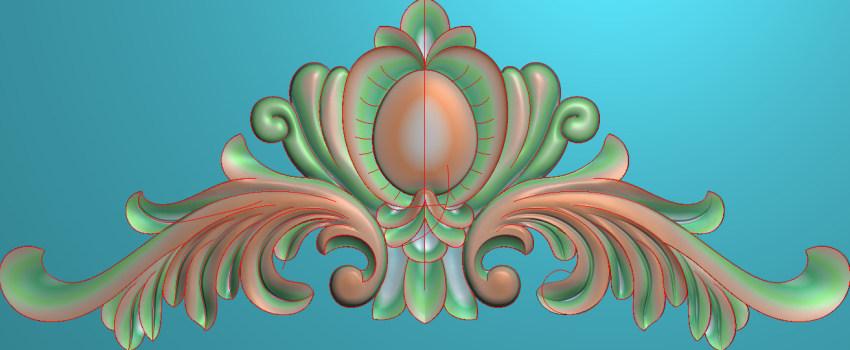 欧式三角花图JDP格式横图浮雕外墙装饰花洋花系列柜门花SH0174插图
